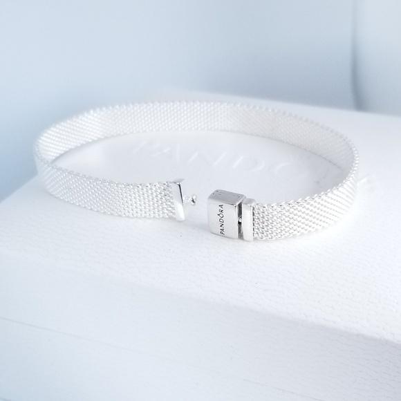 Pandora Reflexions™ Mesh Bracelet Silver 925 Ale NWT